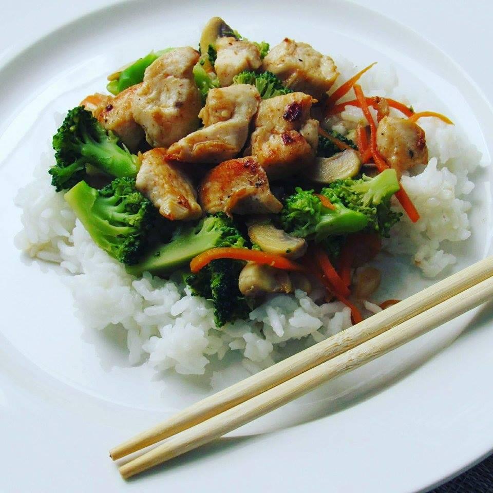 Kuřecí maso se zeleninou a rýží