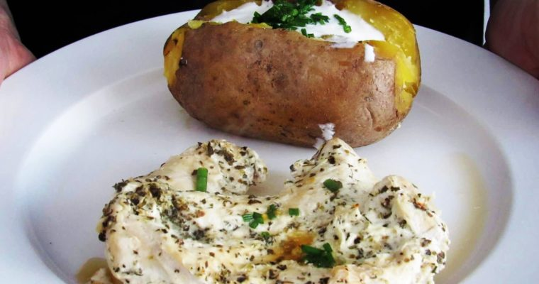 Kuřecí prsa v jogurtu s bramborou