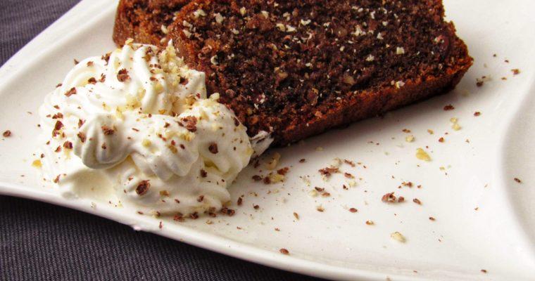 Ořechovo-čokoládový chlebíček